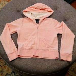 Ralph Lauren girls velour Zip up